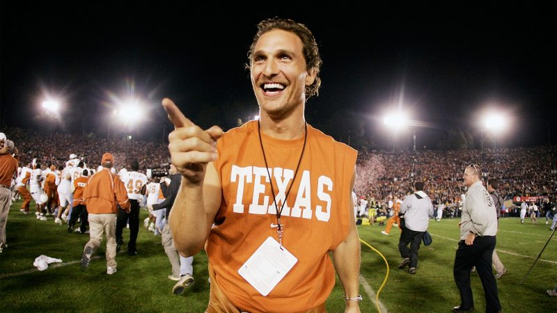 Matthew McConaughey is the top contender for governor – 45% of Texans would vote for him!