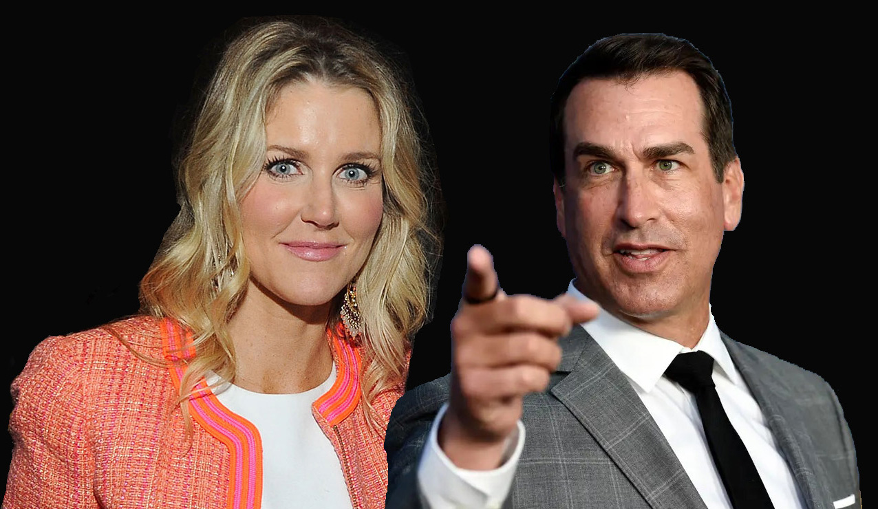Who installed the hidden camera and spied on Rob Riggle? Is it his wife?