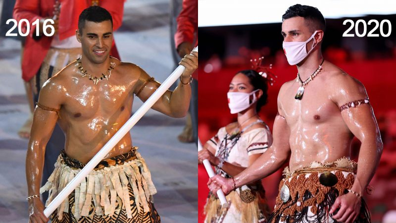 Pita Taufatofua Shows Off His Oiled-Up Torso During Tokyo Olympics Opening