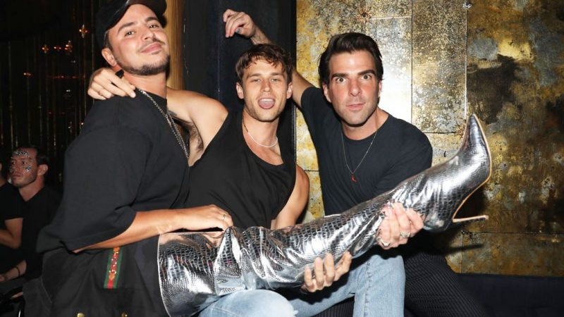 Zachary Quinto and Brandon Flynn spotted together at NYC Pride Weekend