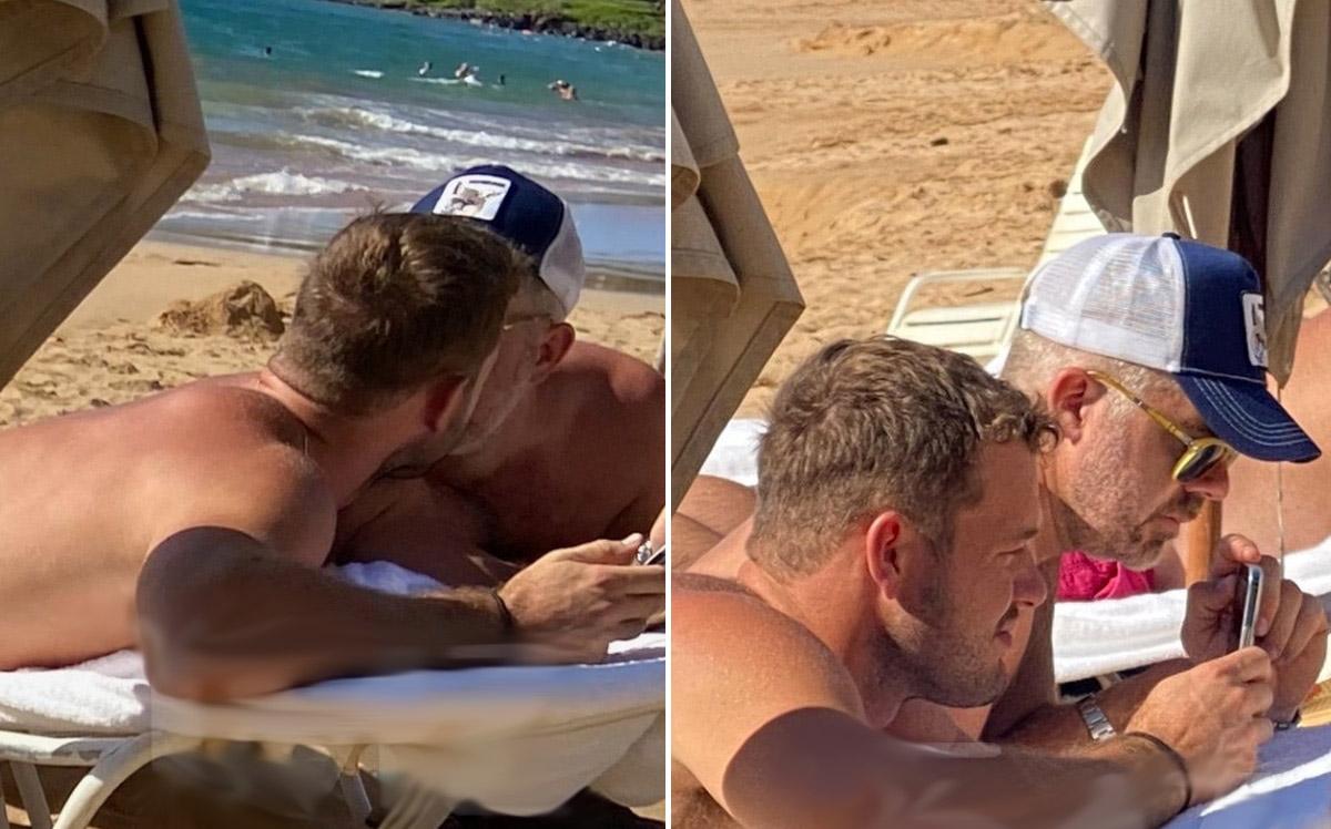 Colton Underwood kissing new boyfriend in Hawaii