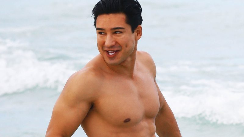Mario Lopez showed off his sweaty chest on his birthday